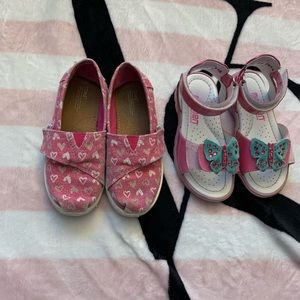 TOMS Girl size 11 shoes lot